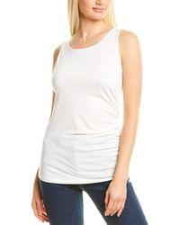 Donna Karan Side Drape Top - White