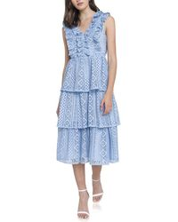 Endless Rose Midi Dress - Blue