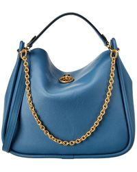 Mulberry Leighton Small Leather Shoulder Bag - Blue