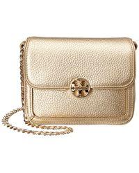 774b58d8be32 Duet Chain Micro Leather Shoulder Bag - Metallic