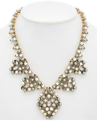 Sparkling Sage - 14k Plated Crystal Necklace - Lyst