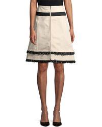 10 Crosby Derek Lam Derek Lam Fringe Denim Skirt - Multicolour