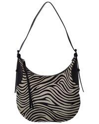 Rebecca Minkoff Pippa Haircalf & Leather Hobo Bag - Black