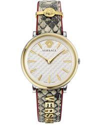Versace V-circle-logomania E Watch - Metallic