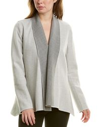 Lafayette 148 New York Reversible Zanita Wool & Cashmere-blend Jacket - Gray