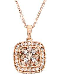 Effy - Fine Jewelry 14k Rose Gold 0.59 Ct. Tw. Diamond Necklace - Lyst