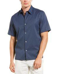 Theory Weldon Woven Shirt - Blue