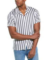 The Kooples Stripes Combined Twill Woven Shirt - White