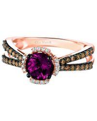 Le Vian ? 14k Rose Gold 1.47 Ct. Tw. Diamond & Rhodolite Ring - Multicolour