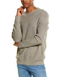 Theory Davies Crewneck Linen-blend Jumper - Grey