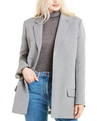 The Row Lohjen Silk-blend Blazer - Grey