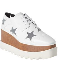 Stella McCartney Elyse Star Cut-out Platform Oxford - White