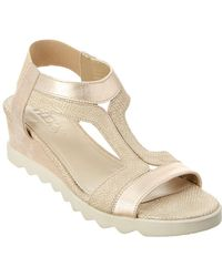 The Flexx The Give A Hoot Leather Wedge Sandal - Metallic