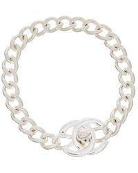 Chanel - Silver-tone Small Cc Turnlock Bracelet - Lyst