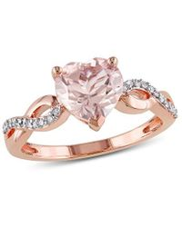 Rina Limor 10k Rose Gold 1.79 Ct. Tw. Diamond & Morganite Engagement Ring - Pink