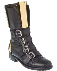 Giuseppe Zanotti Leather Boot - Black