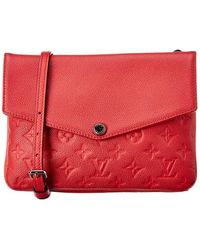 Louis Vuitton Pink Monogram Empreinte Leather Twice - Red
