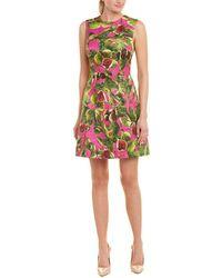 Dolce & Gabbana Brocade Silk-blend A-line Dress - Purple