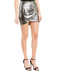 Michelle Mason Gathered Silk-lined Mini Skirt - Grey
