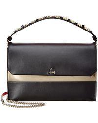 Christian Louboutin - Loubiblues Paris Leather Clutch - Lyst