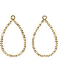 PANDORA Teardrop Earrings - Metallic