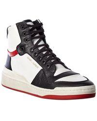Saint Laurent Sl24 Leather Sneaker - White