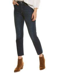 Hudson Jeans Holly Impromptu High-rise Crop Straight Leg Jean - Blue
