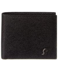 Ferragamo Signature Sf Leather Bifold Wallet - Black
