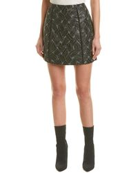 BCBGMAXAZRIA Metallic Jacquard Pencil Skirt - Black