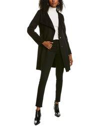 Tahari Evana Medium Wool-blend Coat - Black