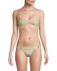 Melissa Odabash Martinique Bandeau Bikini Top - Multicolour