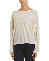 White + Warren Dolman Cashmere Jumper - White