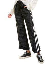 The Kooples Graphic Silk-blend Trouser - Black