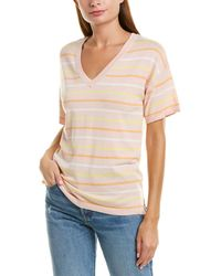 525 America Boxy Striped Top - Pink