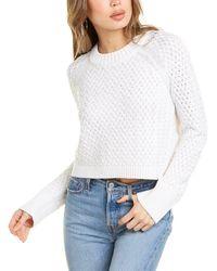 Alice + Olivia Leta Textured Wool-blend Pullover - White