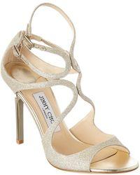 Jimmy Choo Lang 100 Glitter Sandal - Metallic