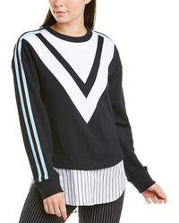 10 Crosby Derek Lam Chevron Sweatshirt - Blue