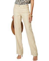 NYDJ The Linen-blend Trouser - Natural