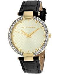 Ted Lapidus Women's Crystal Watch - Metallic