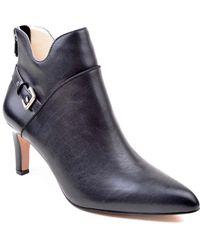 Adrienne Vittadini Shaye Leather Bootie - Black