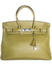 Hermès - Green Leather Birkin 35cm, Phw - Lyst