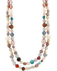Splendid 5-8mm Freshwater Pearl Necklace - Multicolour