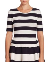 Akris - Striped Knit Top - Lyst
