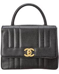 Chanel - Black Caviar Leather Vertical Kelly Bag - Lyst