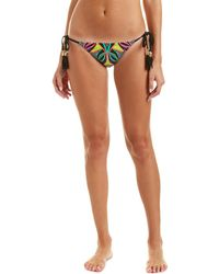 Trina Turk Africana String Bikini Bottom - Black