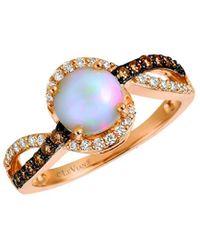 Le Vian ? 14k Rose Gold 1.07 Ct. Tw. Diamond & Neopolitan Opal? Ring - Metallic