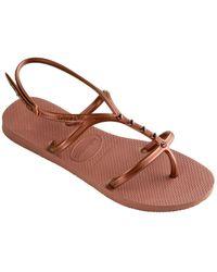Havaianas Allure Maxi Sandal - Brown