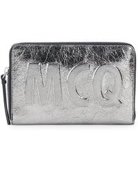 McQ Metallic Leather Pouch