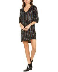 Velvet By Graham & Spencer Sequin Shift Dress - Black