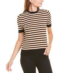 Lafayette 148 New York Striped Shirt - Black